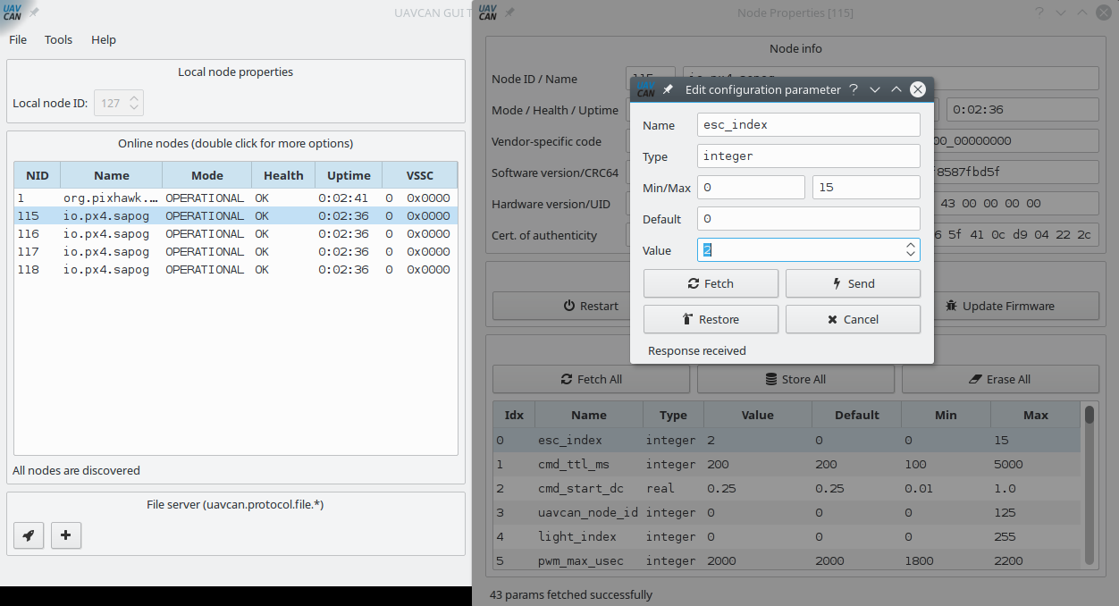 Using Sapog-based ESC with ArduPilot - Knowledge Base
