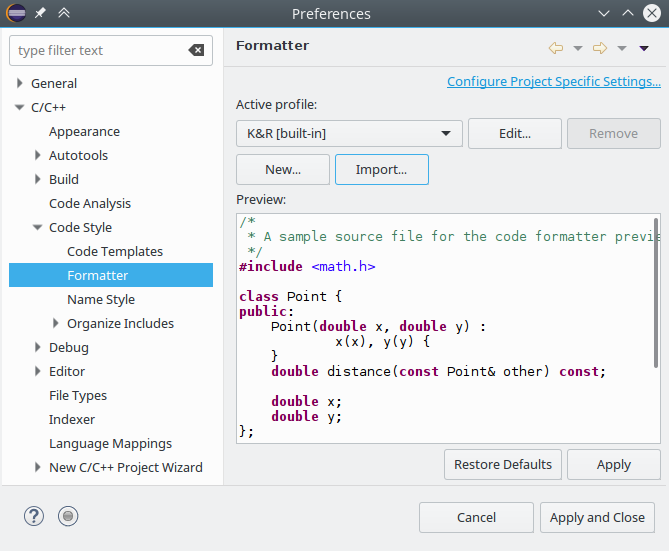 Configuring an Eclipse workspace for embedded development with GNU
